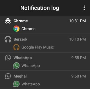 android notification logs