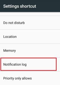 settings shortcut