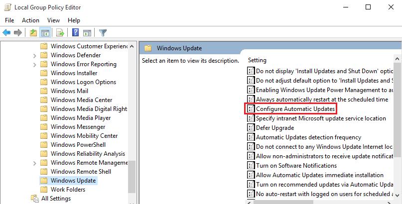 configure updates