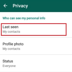 whatsapp trick to hide last seen