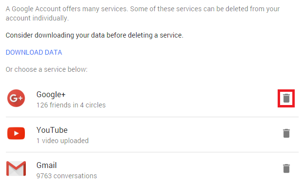how to delete google drive account