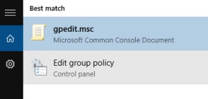 open group policy editor to fix some settings are managed by your organization error