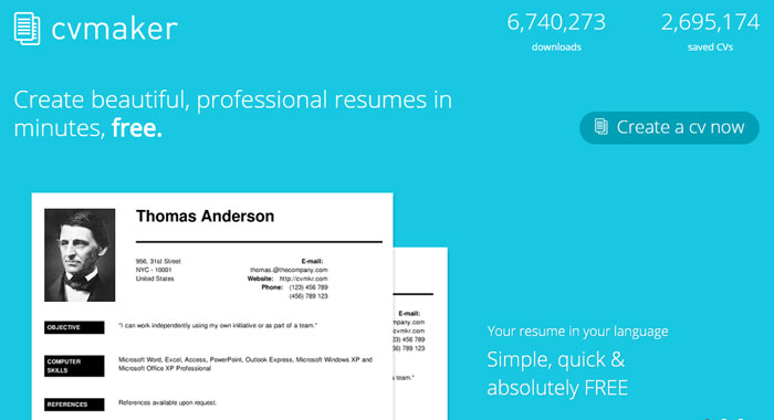 cv maker online resume builder