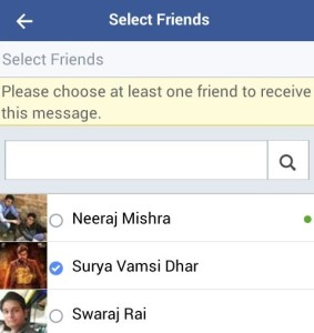 select friends