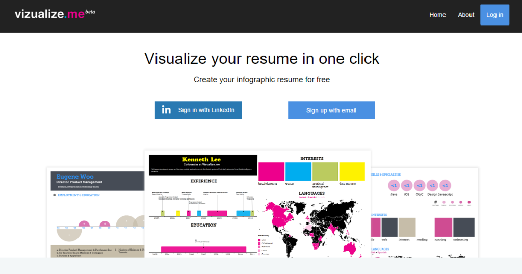 visualise resume builder