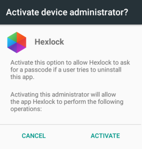 activate device administration