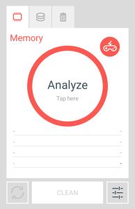 analyze button