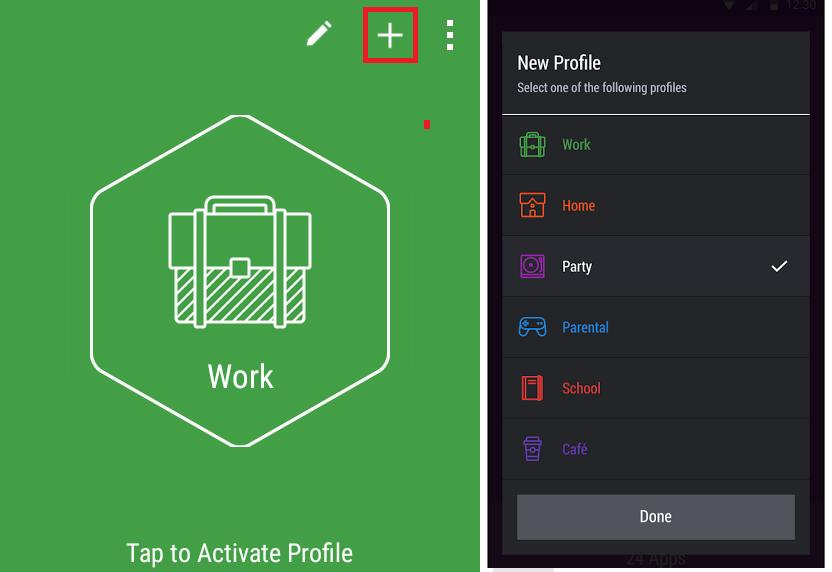 set up new profile
