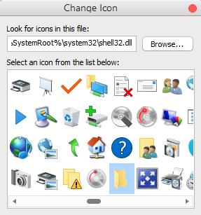 select folder icon