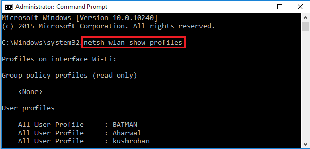 How to find saved wifi password on windows 8
