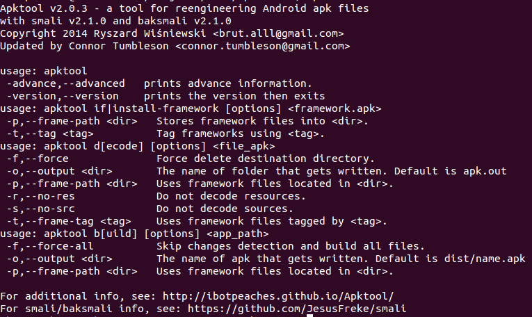 Decompile apk files