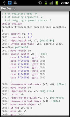 Decompile apk app for Android