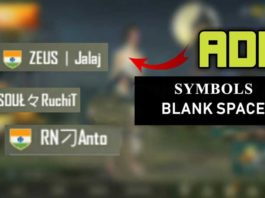 PUBG Mobile Username Symbols For Clan Name (All Working) - Geeks Gyaan