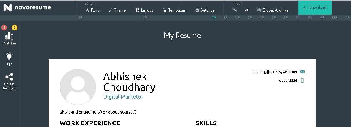best online resume builder - create your perfect resume online