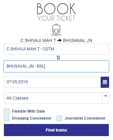 book tickets on irctc website