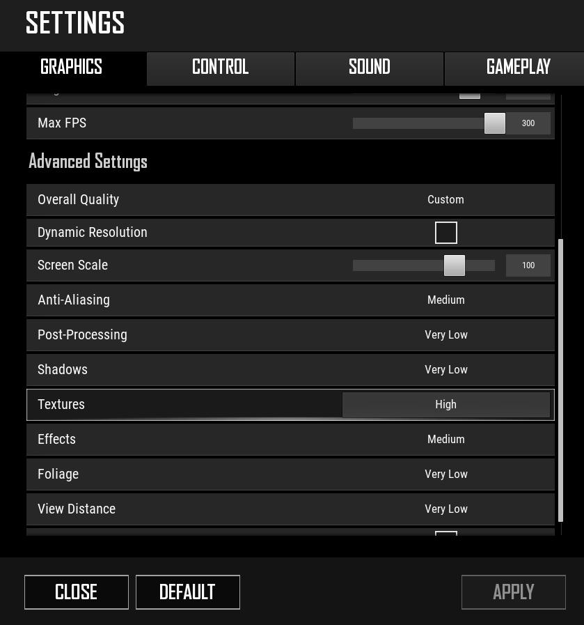 best PUBG-PC-lite-settings