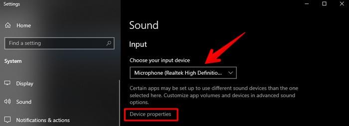 Mircophone-device-properties