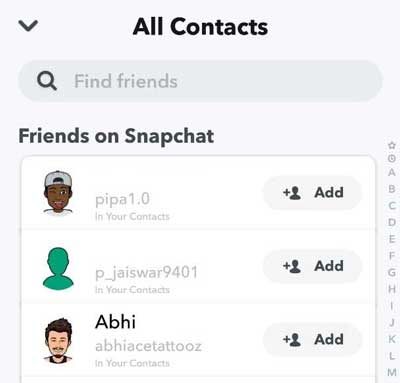 Find-Your-Nearby-Friends-on-Snapchat-by-contact-number