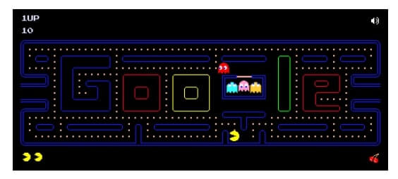 Google Doodles' Pac Man