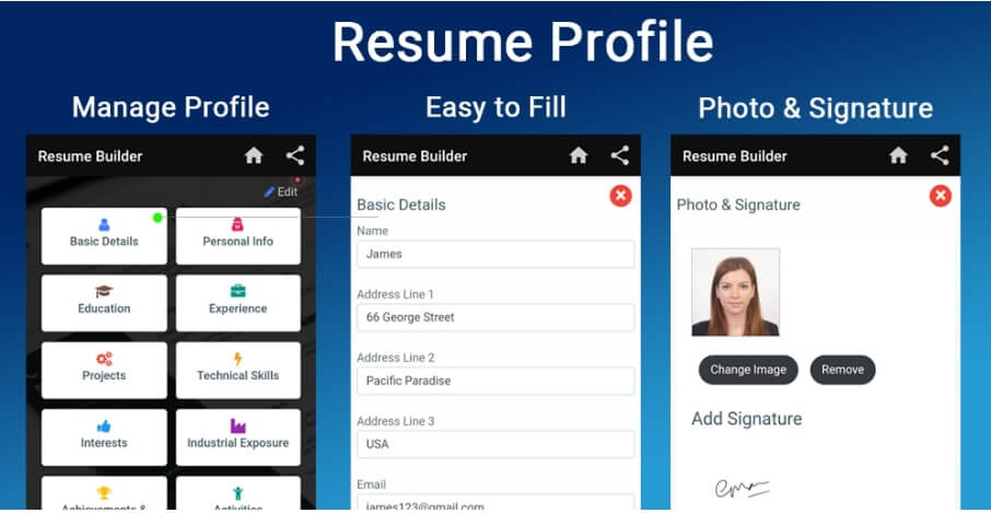 Resume builder for Freshers Experienced CV Make