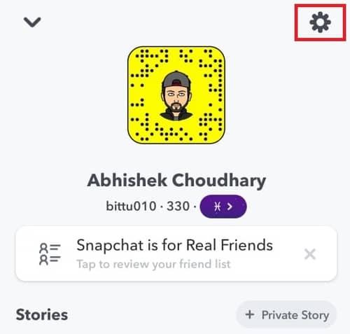 snapchat settings