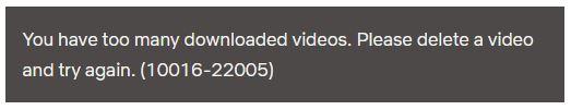 Netflix Jährliches Download Limit