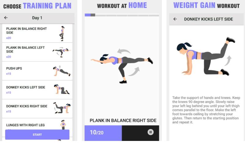 rack weight gain app