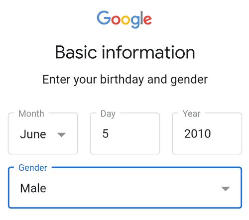 enter age