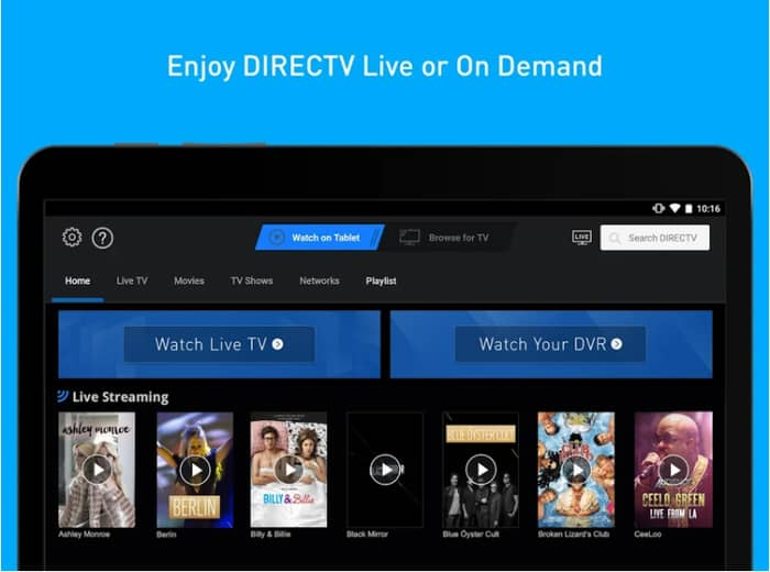 DirecTV for fire tablets