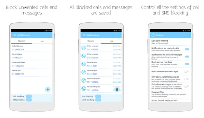 sms blocker for android