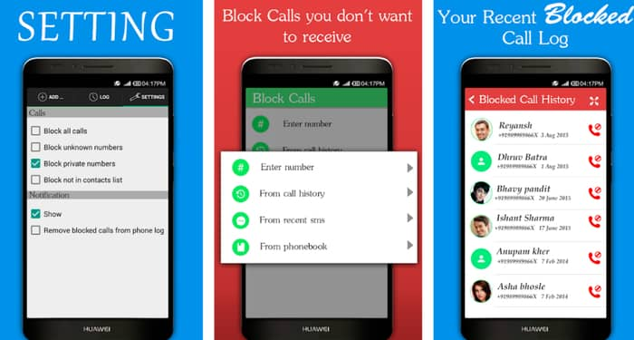 Block Calls & Block SMS