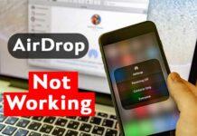 Airdrop Not Working