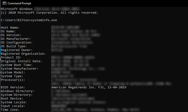 Check Your BIOS Version Using Command Prompt - check how old is my computer