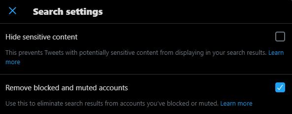uncheck Hide sensitive content