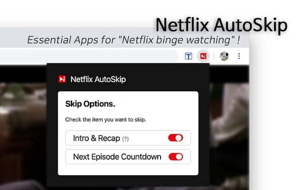auto skip intro on Netflix extension
