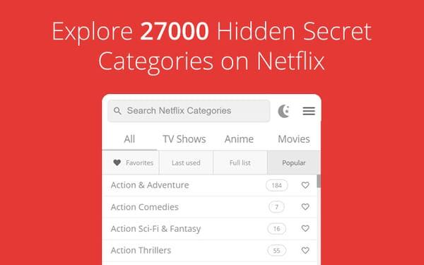 netflix hidden categories extension