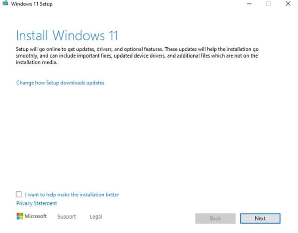 Windows 11 installation steps