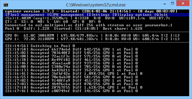 cgminer: bitcoin mining software for windows 10